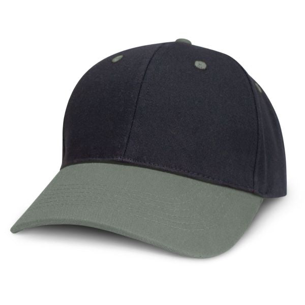 2 Tone Brushed Cotton Cap