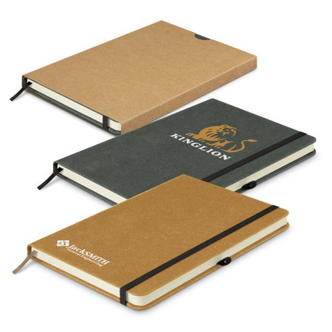 Image of Recycled Leather HARD Cover Notebook