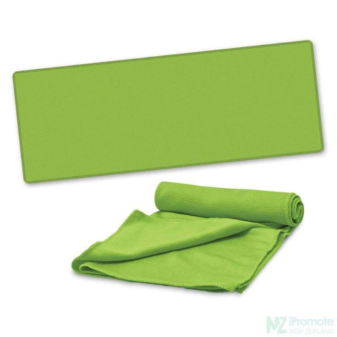 Image of Active Cooling Sports Towel Bright Green