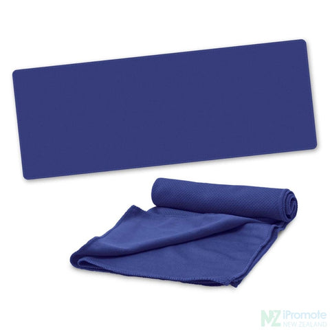 Active Cooling Sports Towel Dark Blue