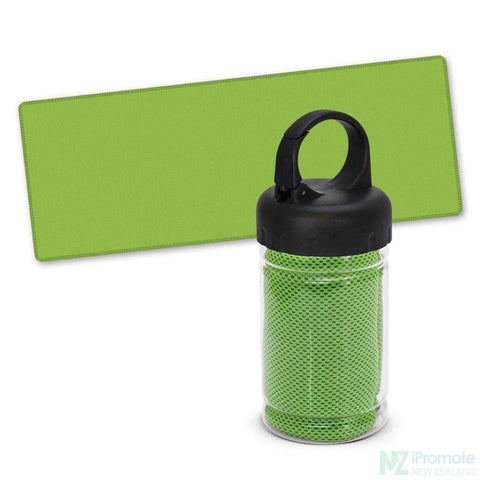 Image of Active Cooling Sports Towel In Tube Bright Green