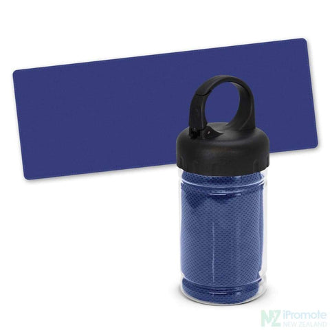 Image of Active Cooling Sports Towel In Tube Dark Blue