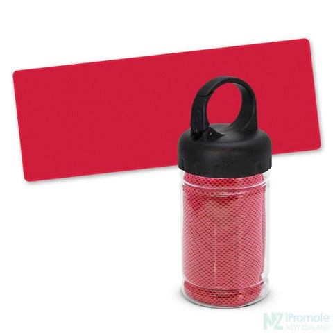 Image of Active Cooling Sports Towel In Tube Red