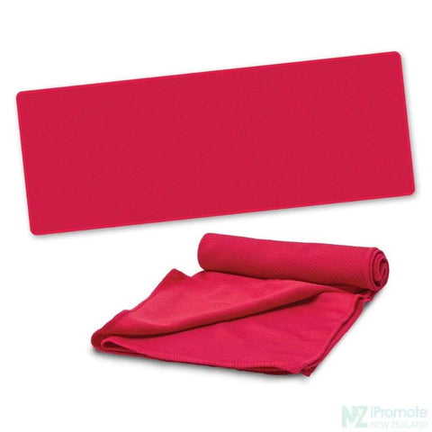 Active Cooling Sports Towel Red