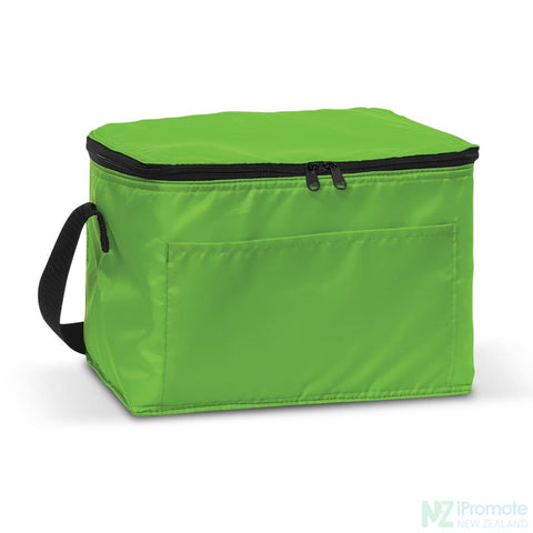 Alaska 6 Can Cooler Bright Green Bag