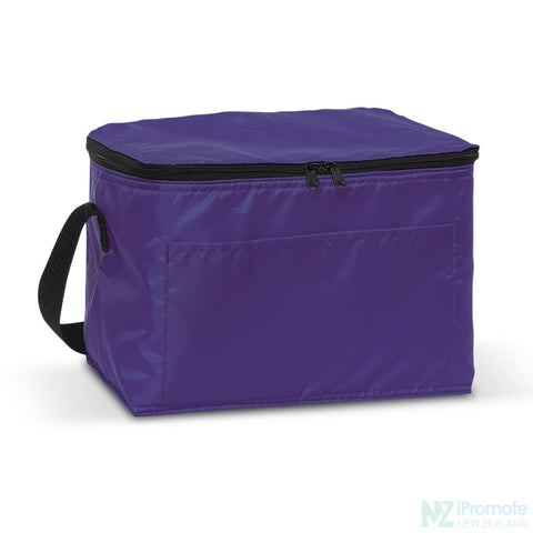 Image of Alaska 6 Can Cooler Purple Bag