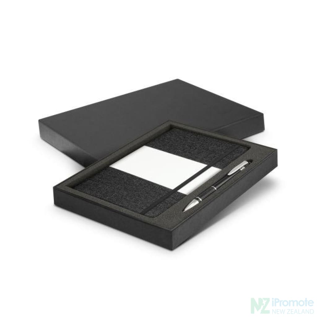 Alexis Notebook And Pen Gift Set Black Notebooks