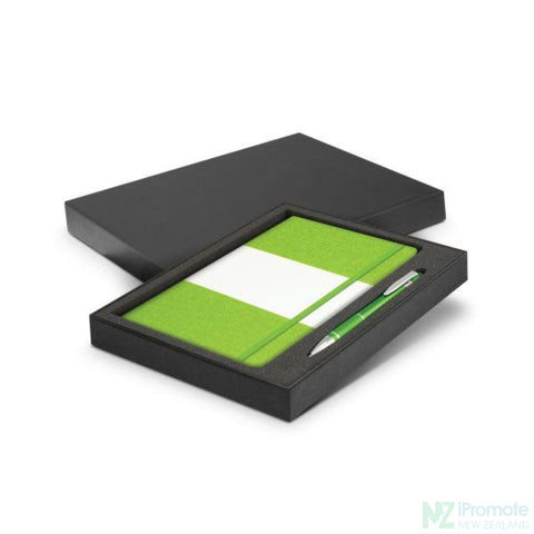 Image of Alexis Notebook And Pen Gift Set Bright Green Notebooks