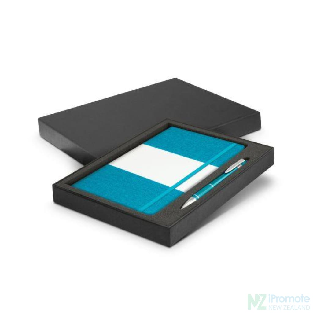Alexis Notebook And Pen Gift Set Light Blue Notebooks