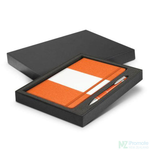 Image of Alexis Notebook And Pen Gift Set Orange Notebooks