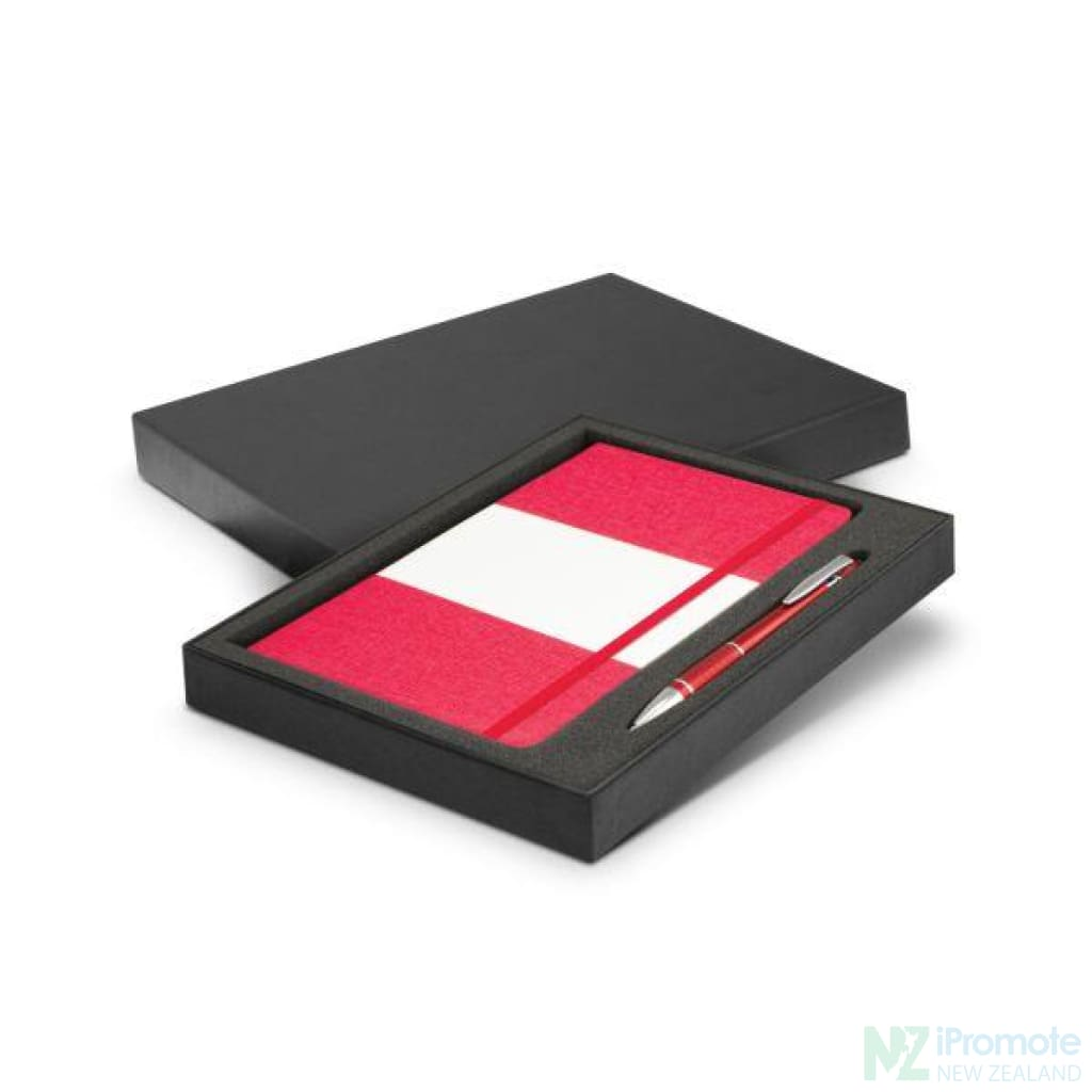 Alexis Notebook And Pen Gift Set Red Notebooks