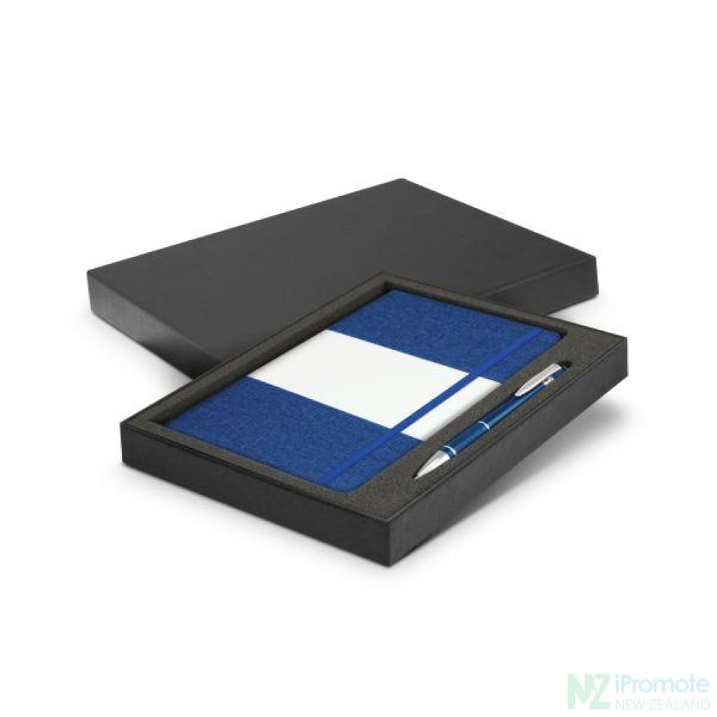 Alexis Notebook And Pen Gift Set Royal Blue Notebooks