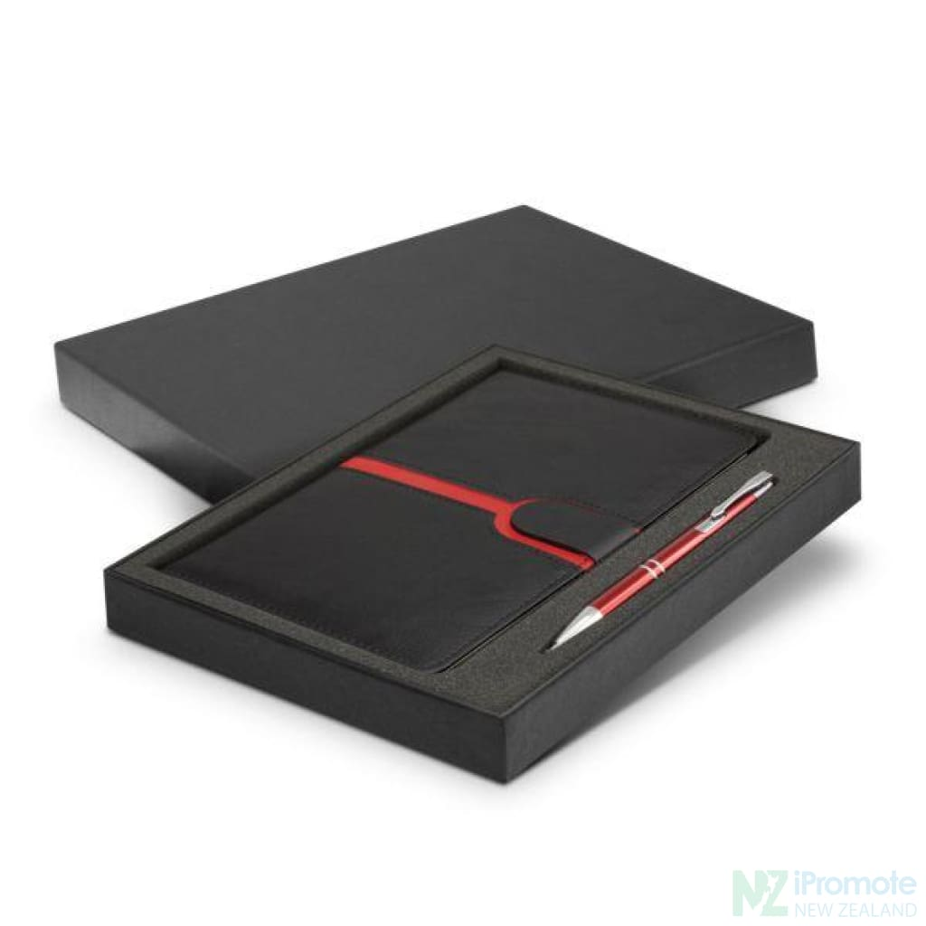 Andorra Notebook And Pen Gift Set Red Notebooks