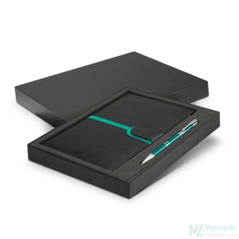 Image of Andorra Notebook And Pen Gift Set Teal Notebooks