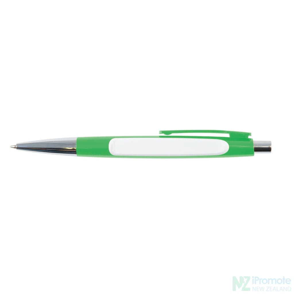 Arrow Ballpoint Pen Green/white Plastic Pens