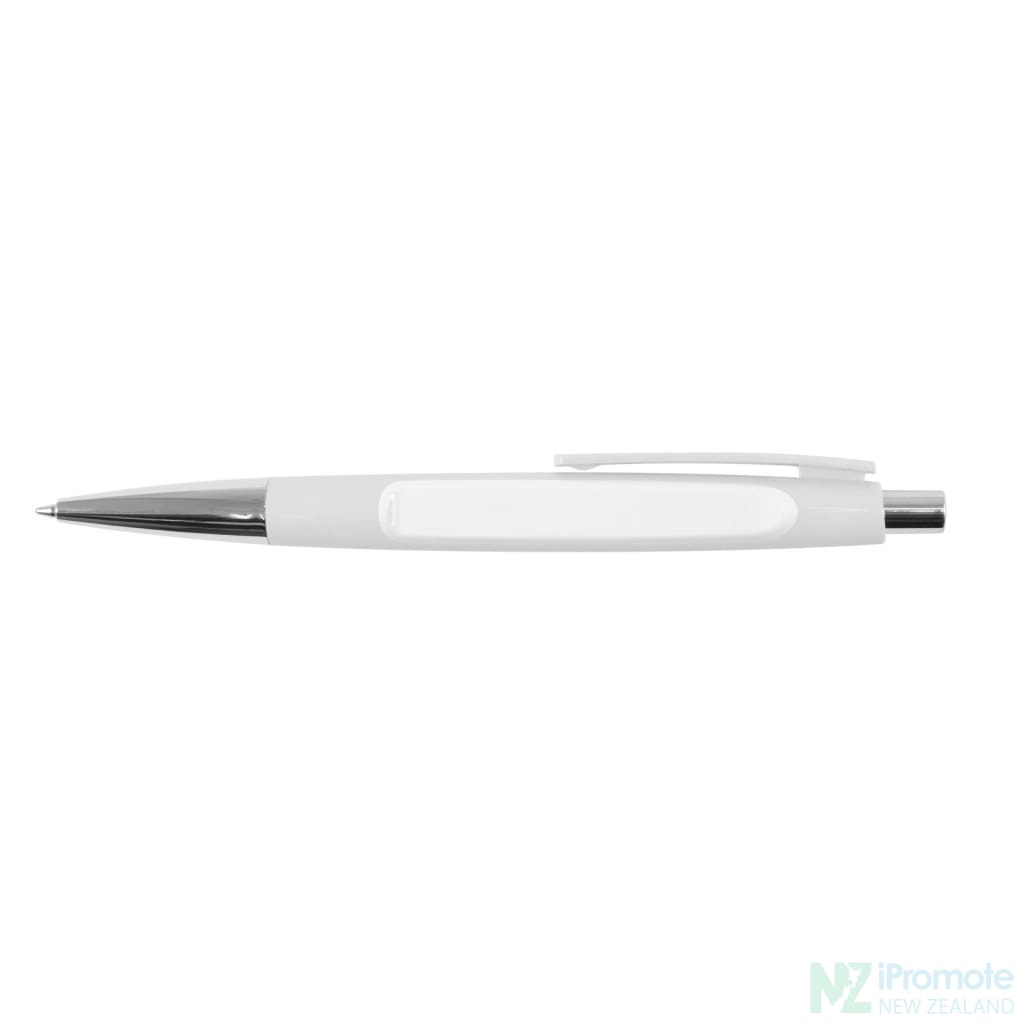 Arrow Ballpoint Pen White Plastic Pens