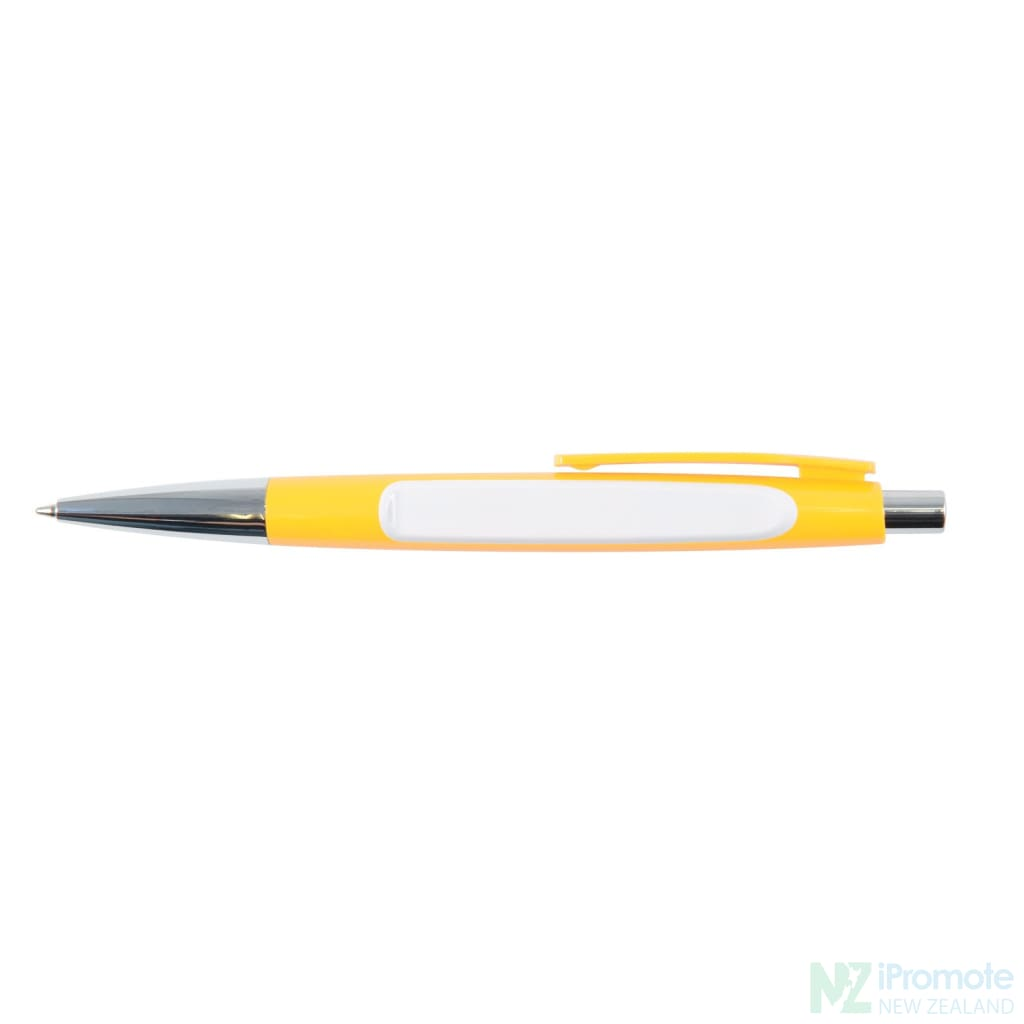 Arrow Ballpoint Pen Yellow/white Plastic Pens
