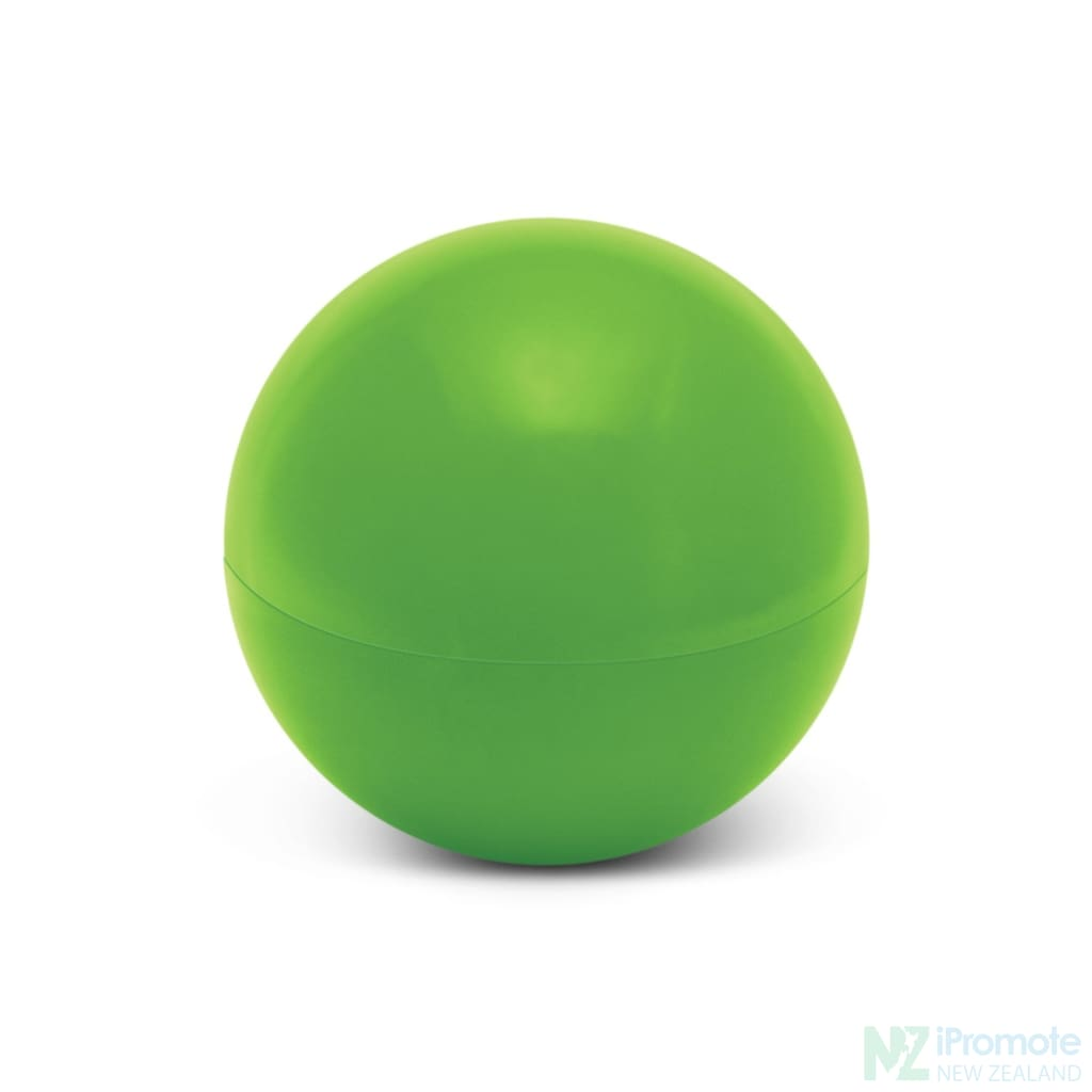 Ball Shaped Lip Balm In Assorted Colours Green