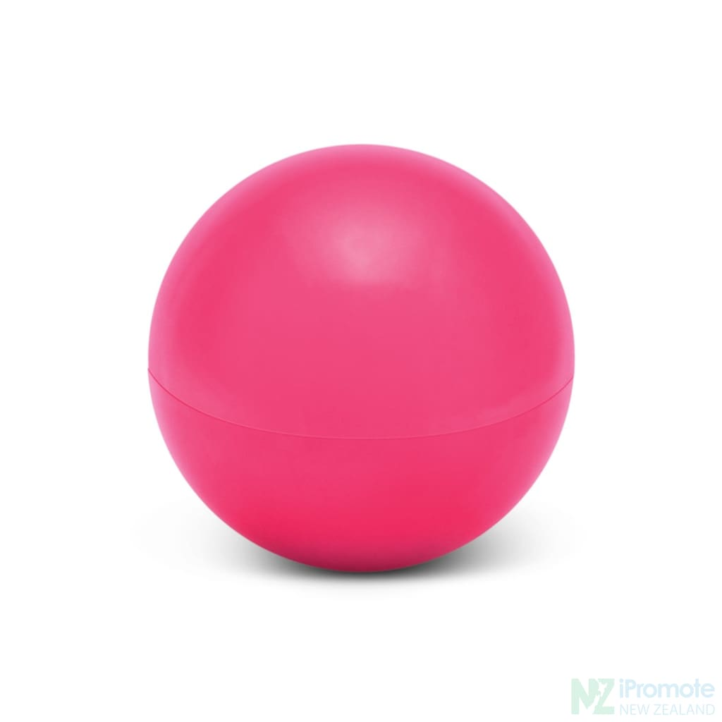 Ball Shaped Lip Balm In Assorted Colours Pink