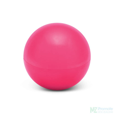 Image of Ball Shaped Lip Balm In Assorted Colours Pink