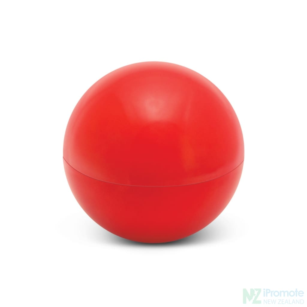 Ball Shaped Lip Balm In Assorted Colours Red