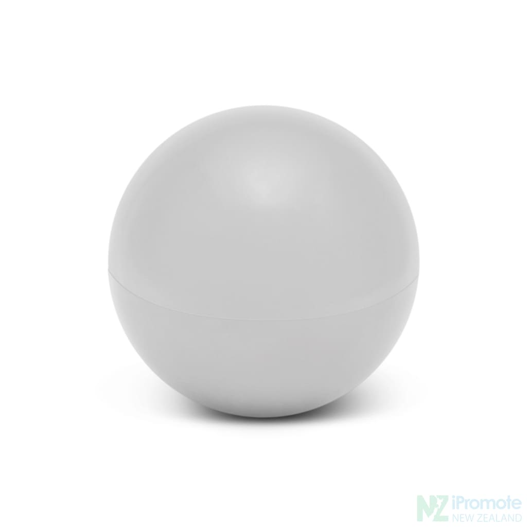 Ball Shaped Lip Balm In Assorted Colours White