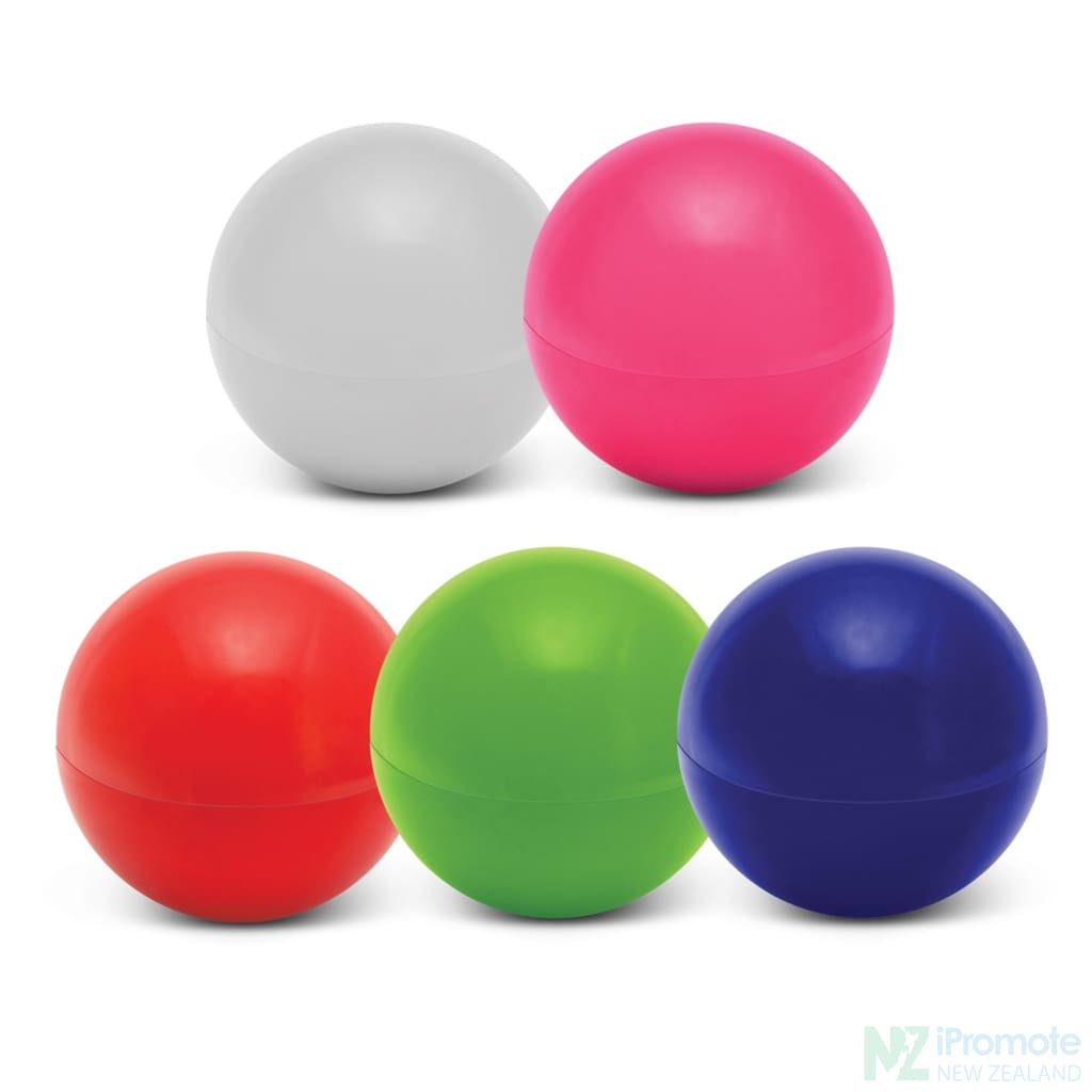 Ball Shaped Lip Balm In Assorted Colours
