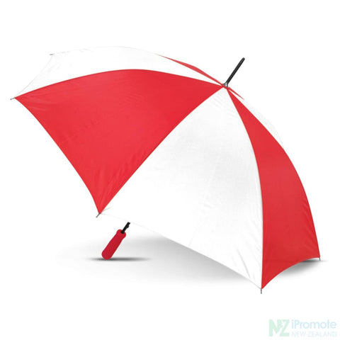 Image of Budget Umbrella 59Cm White/red Umbrellas