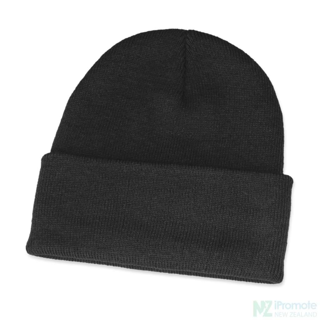 Classic Acrylic Roll Up Beanie Black Beanies