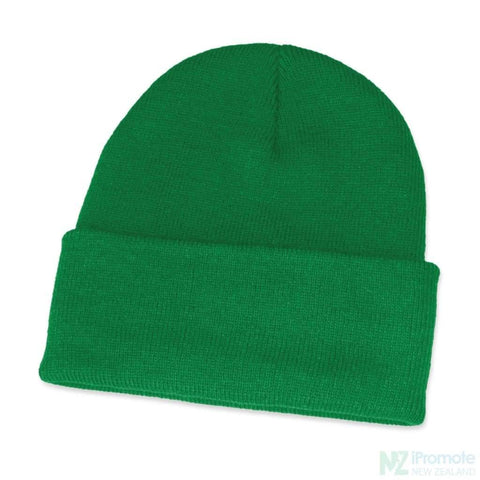 Classic Acrylic Roll Up Beanie Dark Green Beanies
