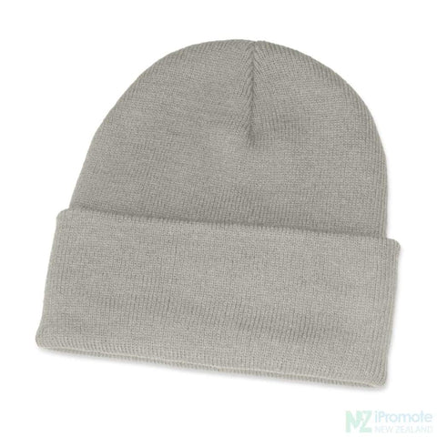 Classic Acrylic Roll Up Beanie Grey Beanies