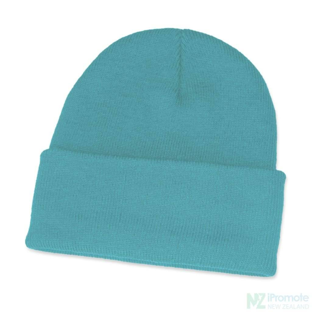 Classic Acrylic Roll Up Beanie Light Blue Beanies