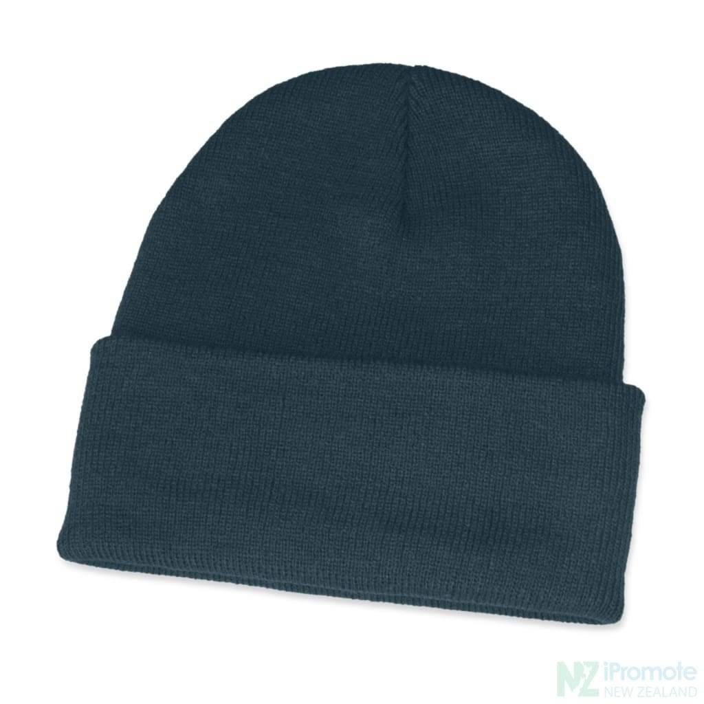 Classic Acrylic Roll Up Beanie Navy Beanies
