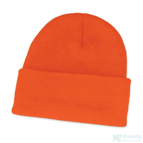Classic Acrylic Roll Up Beanie Orange Beanies