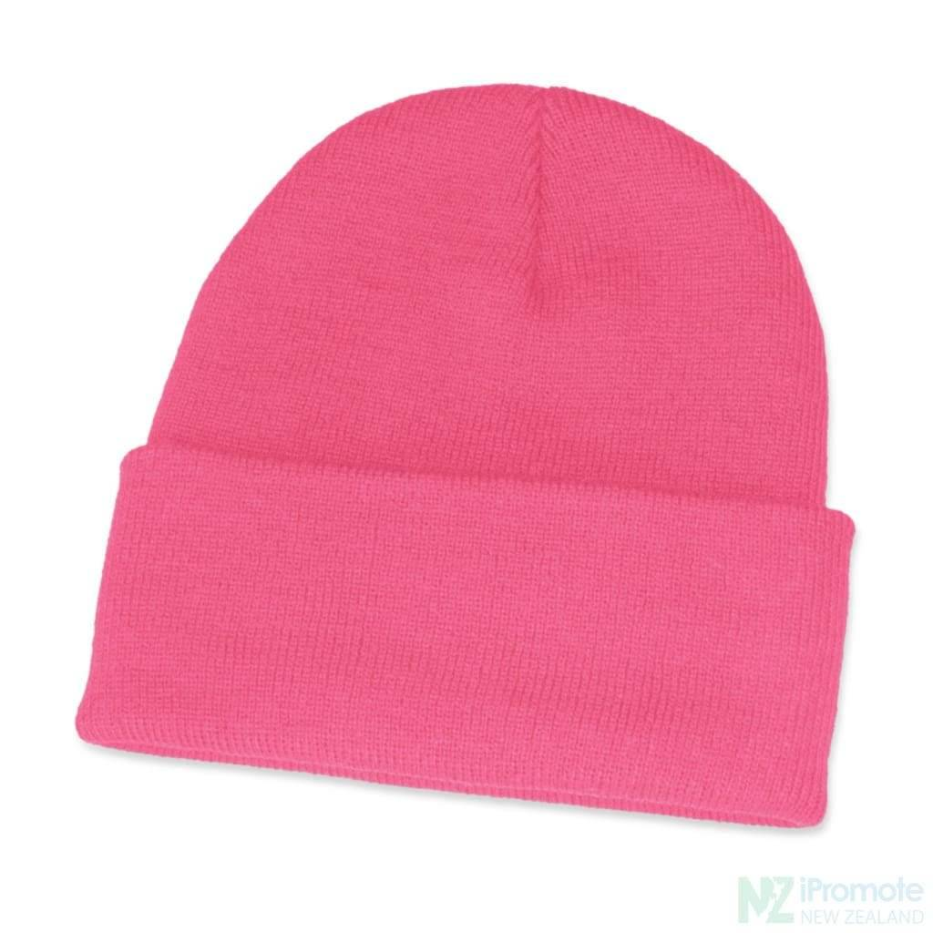 Classic Acrylic Roll Up Beanie Pink Beanies