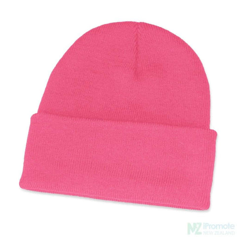 Image of Classic Acrylic Roll Up Beanie Pink Beanies