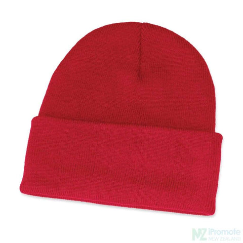 Classic Acrylic Roll Up Beanie Red Beanies