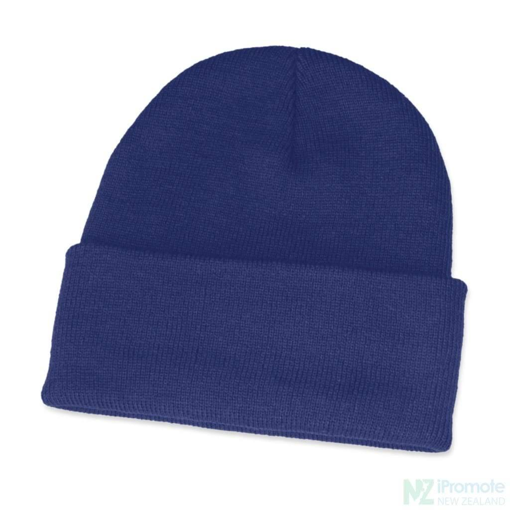 Classic Acrylic Roll Up Beanie Royal Blue Beanies