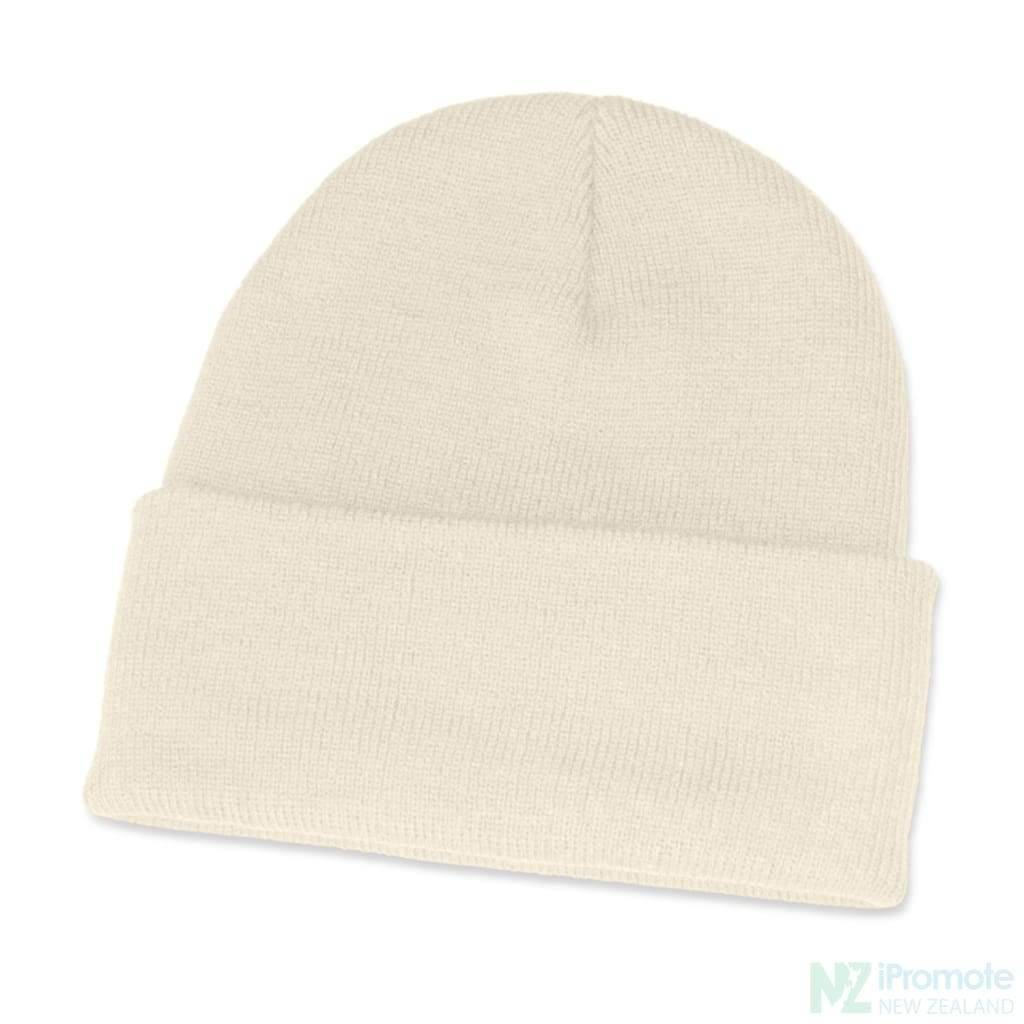 Classic Acrylic Roll Up Beanie White Beanies