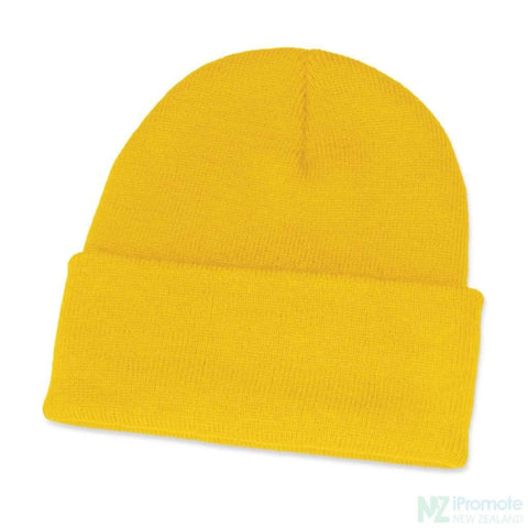 Classic Acrylic Roll Up Beanie Yellow Beanies