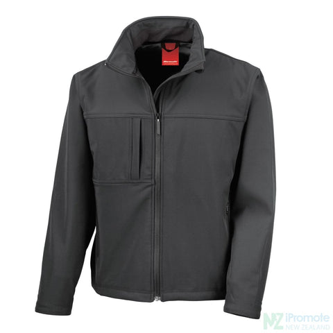 Classic Softshell Jacket Black Jackets