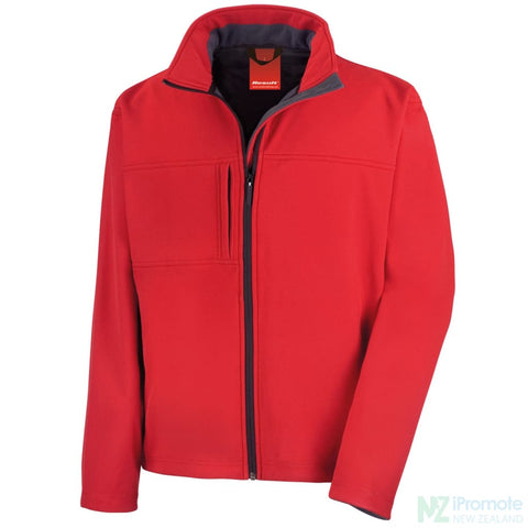 Classic Softshell Jacket Red Jackets