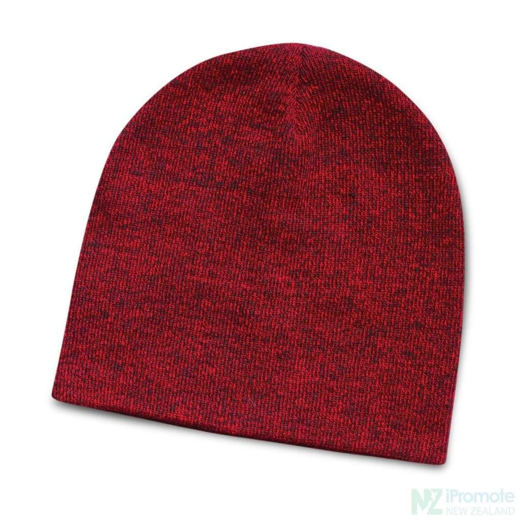 Commando Heather Knit Beanie Red Beanies