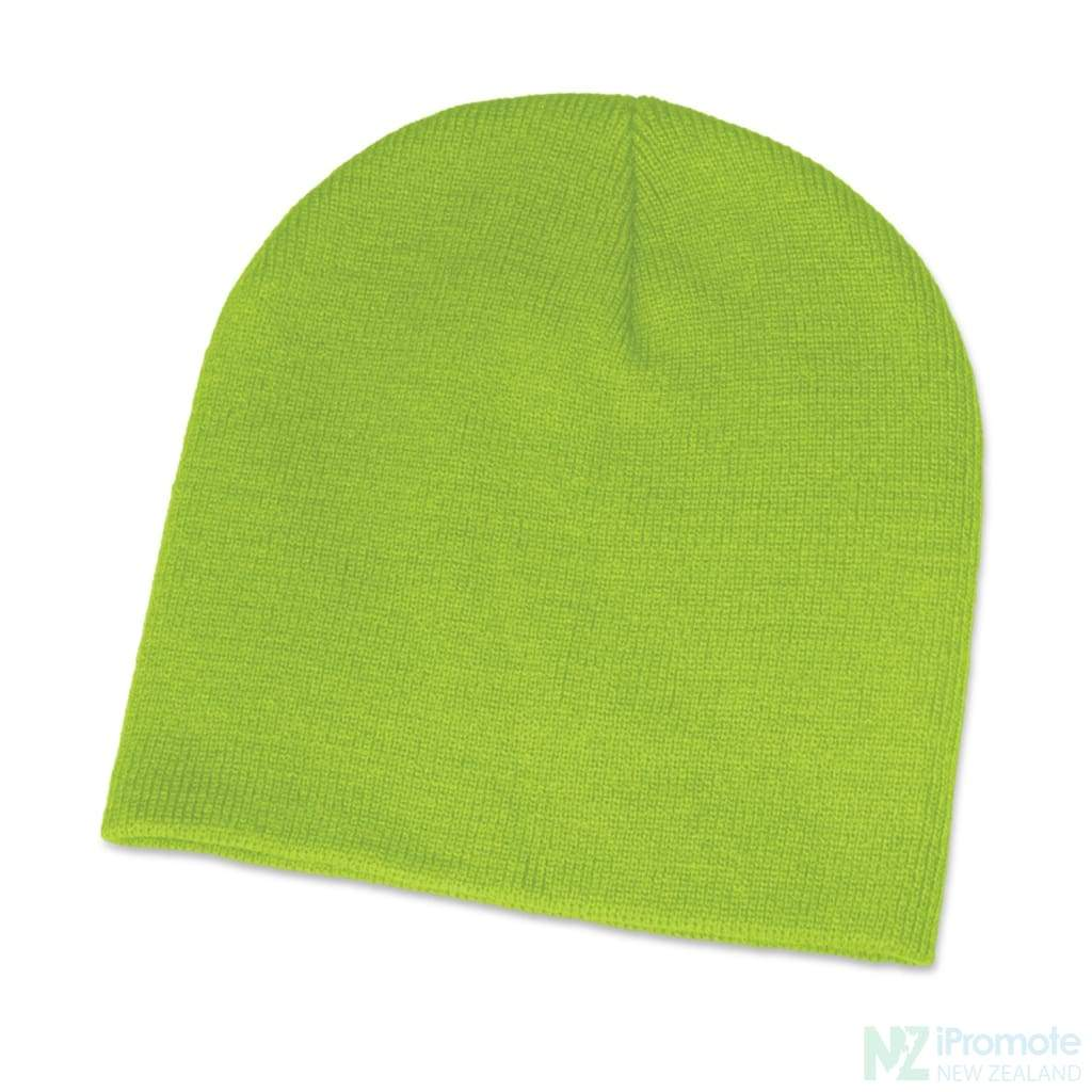 Commando Skull Beanie Bright Green Beanies