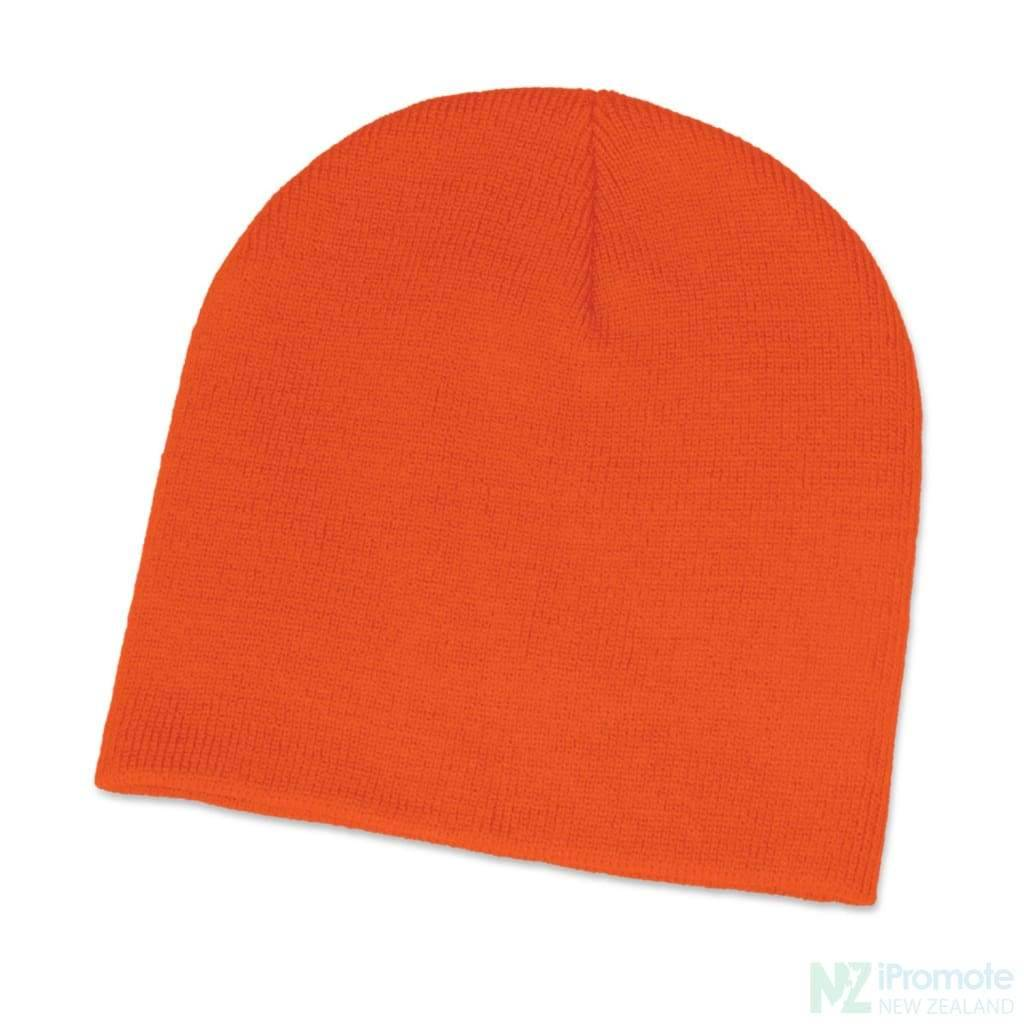 Commando Skull Beanie Orange Beanies