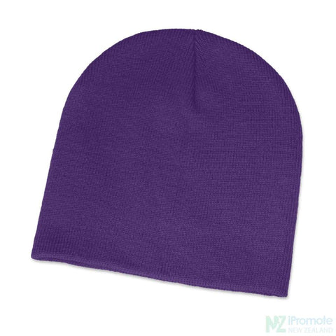 Image of Commando Skull Beanie Purple Beanies