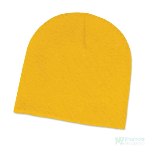Image of Commando Skull Beanie Yellow Beanies