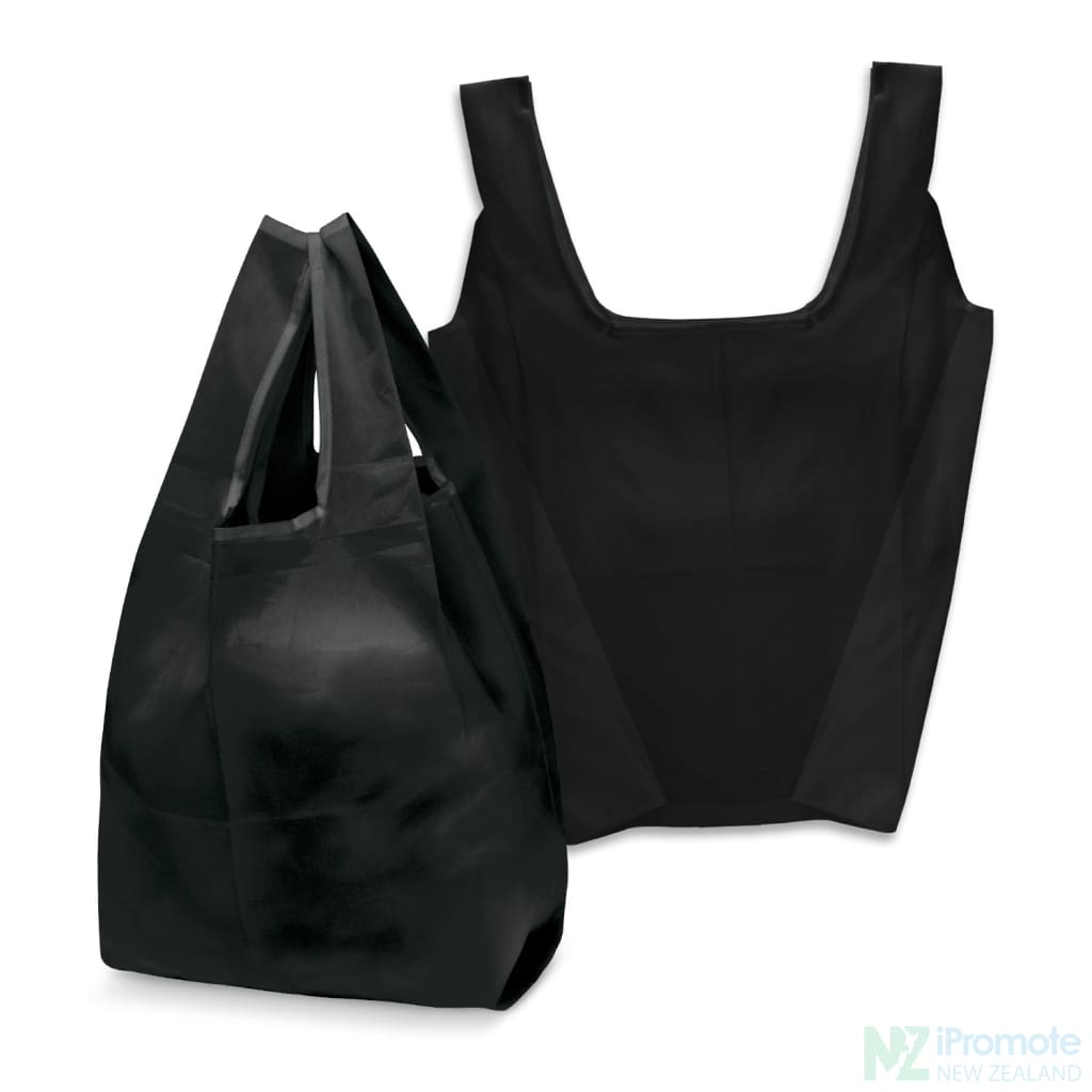 Compact Shopping Bag Black Tote Bags