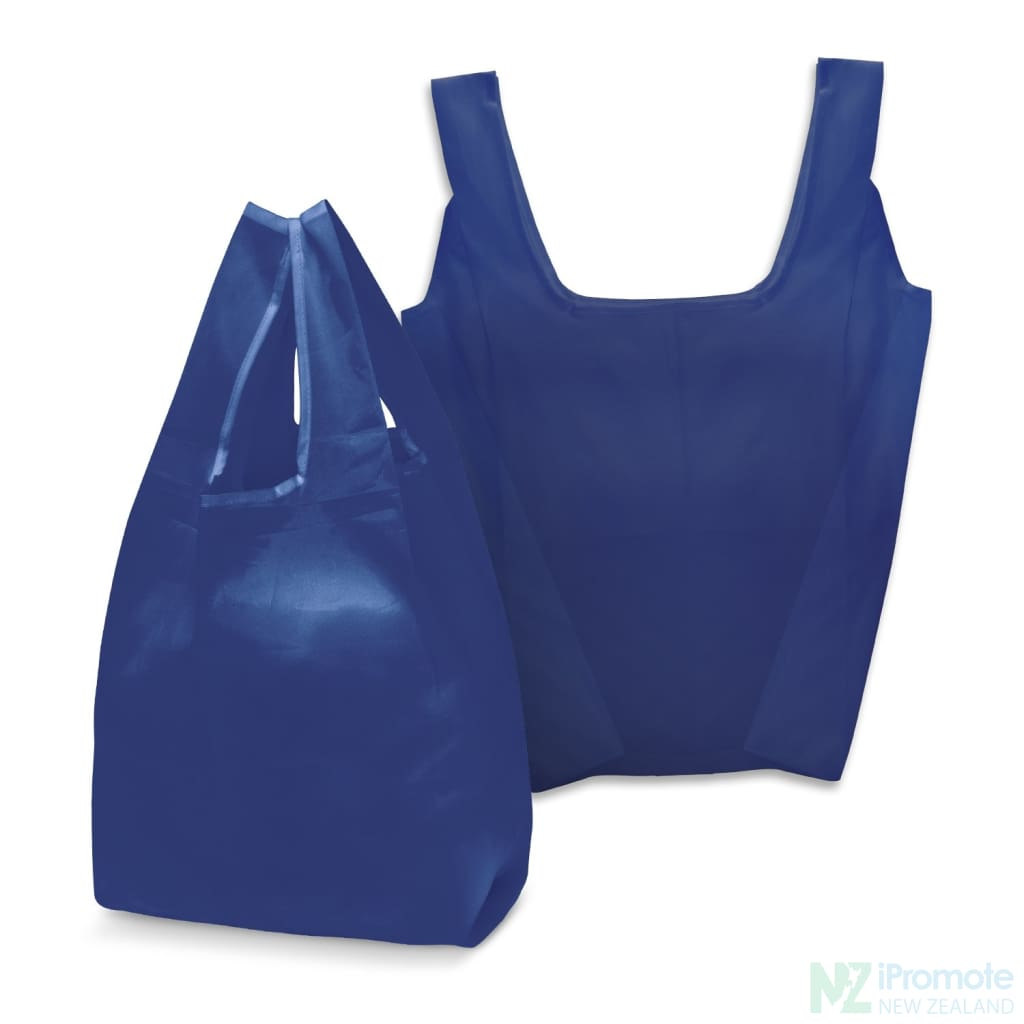 Compact Shopping Bag Dark Blue Tote Bags