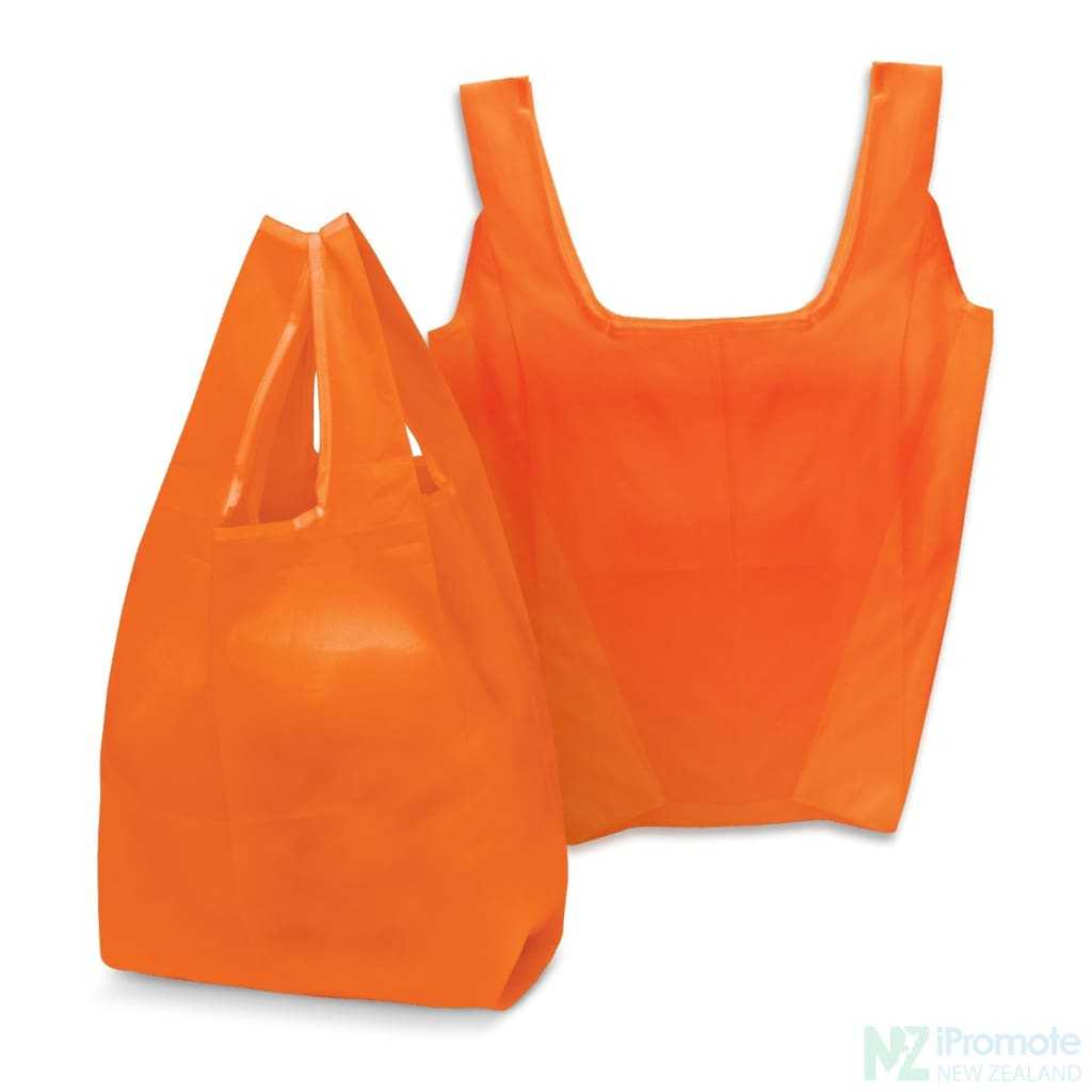 Compact Shopping Bag Orange Tote Bags